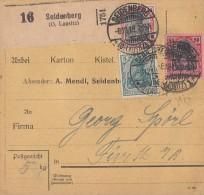 DR Paketkarte Mif Minr.85II,90II,93II Seidenberg 8.12.19 - Covers & Documents