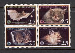 Cyprus 2003 (Vl 846-849) Mediterranean Horheshoe Bats WWF MNH - W.W.F.