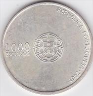 PORTUGAL 1000 ESCUDOS 2001 .10e Championnat Européens De Football Euro 2004 .argent - Portugal