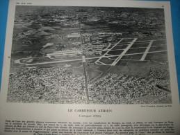 Affiche PARIS 1960 Le Carrefour Aérien  L´aéroport D´Orly  24 X 20 Cm * - Posters