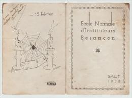 Carte De L´Ecole Nationale D´Instituteurs De Besançon Saut Parachute 1939 écrit En Coin Du Lieutenant Colonel - Books, Magazines  & Catalogs
