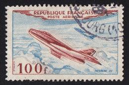 FRANCE - Scott #C29 Jet Plane, Mystère IV (*) / Used Stamp - Airmail