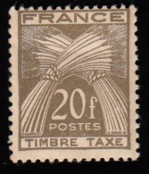 FRANCE - Scott #J90 Sheaves Of Wheat / Mint NH Stamp - 1859-1955 Mint/hinged