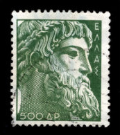 Greece, 1954, Scott #559, Head Of Zeus, 500d, Used,  NH, VF - Greece