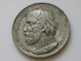 Médaille GIUSEPPE GARIBALDI NATO A NIZZA NEL 1807 Guerra Per L'indipendenza Italiana 1860 **** EN ACHAT IMMEDIAT **** - Royaux/De Noblesse