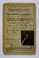 ALSACE et  LORRAINE - carte d'identit� - r�ductions sur le prix des billets simples ou d'aller- retour ordinaires 1922