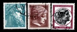 Greece, 1959, Scott #634, 636, 638II, Heads Of Greek Gods And Heroes Used,  NH, VF - Greece
