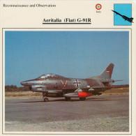 AERITALIA  (FIAT)  G-91 R       2SCAN  (NUOVA CON DESCRIZIONE SUL RETRO) - 1946-....: Moderne