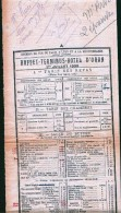 Facture  Chemins De Fer- Buffet-Terminus-Hotel D'Oran1930 - Transport