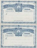HONDURAS   : POSTAL STATIONERY/ ENTIER  (H&G) POSTCARD   Nr. 8  (3 + 3  Centavos) New - Honduras