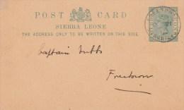 """SIERRA LEONE : POSTAL STATIONERY/ ENTIER  (H&G) POSTCARD  Nr. 5 """"FREETOWN OC 21 01"""" - Sierra Leone (1961-...)"""