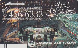 Télécarte Ancienne Japon / 110-18701 - AVIATION - JAL - JAPAN AIRLINES Front Bar Phonecard - Balken TK - Avion 911 - Flugzeuge