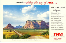 "The ""TWA""  Ouk Kreek Canyon Post Card. - Avions"