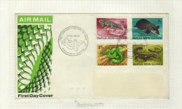 """Nouvelle-Guinée 1972)  - Lettre Premier Jour  """"Reptiles"""" - Reptiles & Batraciens"""