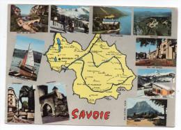 SAVOIE--Carte Géographique(pont De La Balme,Hautecombe,Revard,Aix-les-Bains,Mont Granier,Conflans,Chambéry,Aiguebelette) - Cartes Géographiques