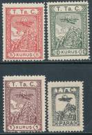 TURKEY 1931-2 POSTAL TAX STAMPS AIR MAIL SC RAC 24-27 F-VF MNH SCARCE AS SUCH - Unused Stamps