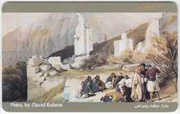 JORDAN A-524 Chip JPP - Painting, Historic view, Petra - used