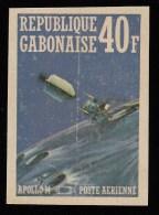 GABON - SW527 Apollo 14 / Mint H Imperf. Stamp - Gabon