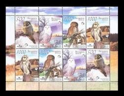Belarus 2007 Mih. 672/75 Fauna. Birds. Owls (M/S) MNH ** - Belarus
