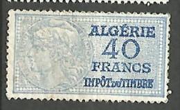ALGERIE FISCAL DE 40F   NEUF** / 2 SCANS