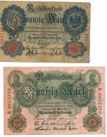 Germany , 20-50 Mk, 1910, USED, SEE SCAN. - [ 2] 1871-1918 : Duitse Rijk