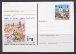 Germany 1996 60J Tag Der Briefmarke / Int. Münchner Briefmarkentage Postal Stationery Unused (23307C) - [7] West-Duitsland