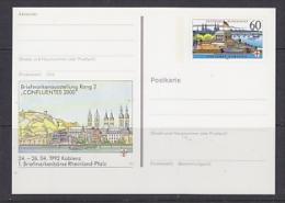 Germany 1992 Koblenz Briefmarkenbörse Rheinland-Pfalz  Postal Stationery Unused (23307D) - [7] West-Duitsland