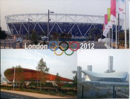 London Olympic Games Stadiums - Queen Elizabeth Stadium - Aquatic Centre (swimming) - Lee Valley VeloPark (cycling) - Estadios