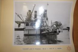 Album de photo, dragueurs, 17 photos 24X18  de dragueurs construits par les chantiers Naval I.H.C. Holland