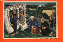 "Illustrateur HOMUALK Charles - 29 - LOCRONAN- La Grande Troménie - Station De ""mam-Doué"" N°67 - Editions Gaby - Locronan"