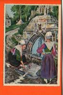Illustrateur HOMUALK Charles - 29 - PLOUGASTEL: La Fontaine Blanche  - N°73 - Editions Gaby - Plougastel-Daoulas