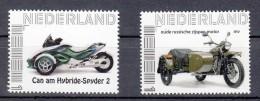 Nederland Persoonlijke Zegels Thema: Motor, Engines : Can Am Hybride-Spyder 2 + Oude Russische Zijspan - 2013-... (Willem-Alexander)