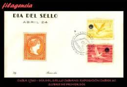 CUBA SPD-FDC. 1960-05 DÍA DEL SELLO CUBANO. FAUNA. AVES - FDC