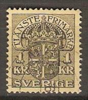 SUEDE  /  SVERIGE.    Service / Frimarke.   1910.   Y&T N° 30 Oblitéré - Service