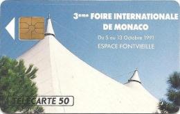 Monaco (09/91 - B19128) Tirage 10000 Ex. - Puce : GEM - Utilisée - FICOMIAS - Monaco