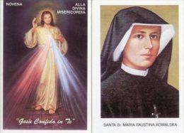 Santino Depliant NOVENA ALLA DIVINA MISERICORDIA, SANTA SUOR MARIA FAUSTINA KOWALSKA - PERFETTO H84 - Religione & Esoterismo