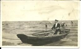 VENEZIA  Agosto 1922  Lo Zio Adone Per La Nipote Angiolina  Mare Bagnanti  Barca A Remi  14x8,5  2 Scans - Persone Anonimi