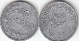 Grecia 10 Lepta 1922 Km#66.1 - Used - Grèce