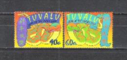 Tuvalu 2001 Astrologie Chinesisches Neujahr Lunar New Year Horoskop Schlangen Snakes Reptilien Reptiles, Mi. 990-1 ** - Tuvalu (fr. Elliceinseln)