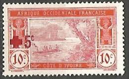 COTE D�IVOIRE   N� 58 NEUF* TRACE DE CHARNIERE  / MH
