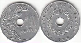 Grecia 20 Lepta 1966 Km#79 - Used - Grecia