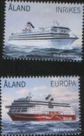 Aland 2014 Ships Aland Passenger´s Ferries (M/S Birka Princess- M/S Viking Grace) 2v Complete Set ** MNH - Aland