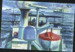 Aland 2014 Souvenir Sheet Norden Nordic Ships At The Sea 1v Complete Set ** MNH - Aland