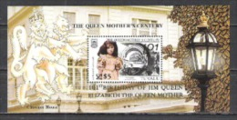 Tuvalu 2001 Geschichte Persönlichkeiten Herrscherhäuser Royals Queen Geburtstag Königinmutter Elisabeth, Bl. 86 ** - Tuvalu (fr. Elliceinseln)