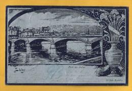 Liège. Edition Nels. Le Pont Des Arches Argentée Et Bleu Nuit.  Art-nouveau. Voir Les 2 Scans. - Liege