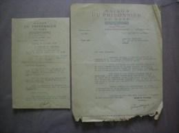 MAISON DU PRISONNIER DU NORD AU SERVICE DU MARECHAL 31 RUE DU MOULINEL COURRIERS DU 1er AVRIL ET DU 19 JUIN 1943 - Documents