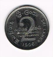 *** SRI  LANKA  2 RUPEES  1996 - Sri Lanka