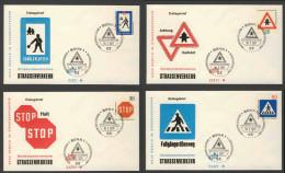 Deutschland Germany 1971 FDC + Mi 665 / 8 YT 528 /1 - New Road Traffic Regulations / Neue Regeln Im Straßenverkehr - Transportmiddelen
