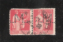 Perforé/perfin/lochung France No 283 M Société Des Mines De Lens (7) - Gezähnt (Perforiert/Gezähnt)