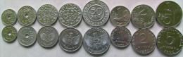 Indonesia set of 8 coins 1951-1970 (1+5+10+25+50 Sen +1+2+5 rupiah) UNC